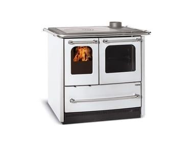 Cucina a legna con rivestimento in acciaio porcellanato SOVRANA EASY EVO
