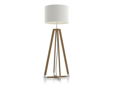 Teak Floor lamp SPACE SHIP | Floor lamp