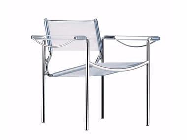 Petit fauteuil empilable en acier et PVC avec accoudoirs SPAGHETTI ARMCHAIR - 109