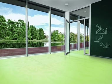 Ecological synthetic material flooring SPARKLING COLOUR