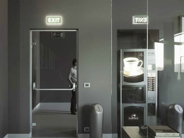 Glass Emergency exit door SPAZIO | Emergency exit door