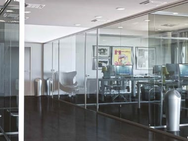Glass partition walls SPAZIO