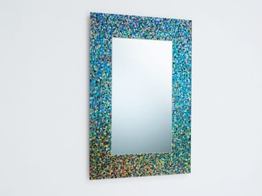 Rectangular wall-mounted framed mirror SPECCHIO DI PROUST