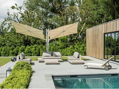 Double square offset aluminium Garden umbrella SPECTRA DUO