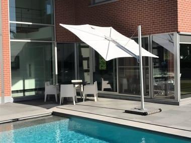 Guarda-sol ajustável quadrado de alumínio anodizado com apoio lateral SPECTRA STRAIGHT