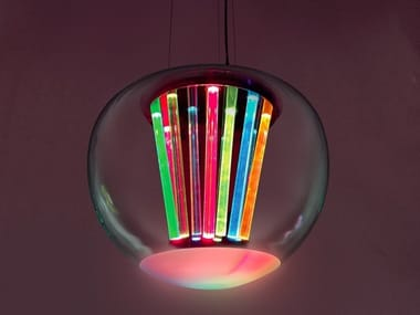 LED direct light blown glass pendant lamp SPECTRAL LIGHT