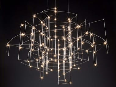 Nickel pendant lamp SPECTRE