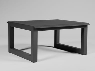 Low sled base aluminium stool SPIKES | Stool