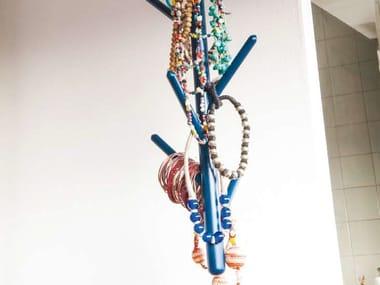 Hanging wooden coat rack SPILLO