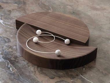 Caixa para joias de madeira maciça SPLIT BOWL