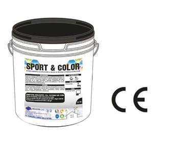 Rivestimento a spessore per pavimentazioni sportive SPORT & COLOR