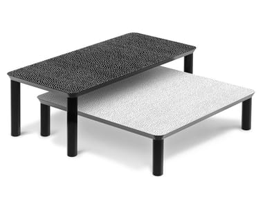 Lacquered rectangular coffee table SPOTTY