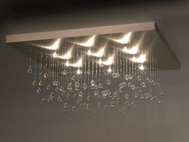 Lampada da soffitto in metallo con cristalli SPRANKLING C9