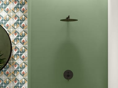 Rectified indoor white-paste wall tiles SPRING GREEN