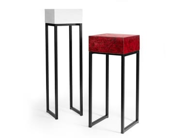 Lacquered OSB console table with drawers SPRING | Pedestal