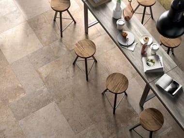 Pavimento/rivestimento in gres porcellanato effetto pietra SPRINGSTONE BEIGE