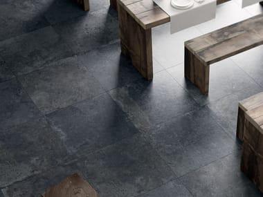 Pavimento/rivestimento in gres porcellanato effetto pietra SPRINGSTONE BLACK