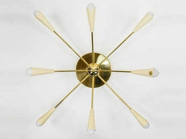 Brass ceiling lamp SPUTNIK | Ceiling lamp