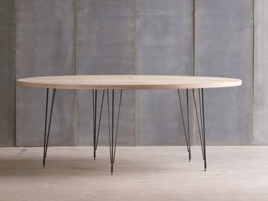 Custom birch table SPUTNIK MTM