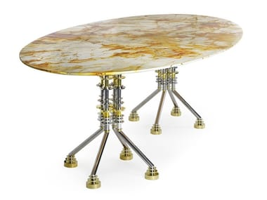 Oval Spiderman marble dining table SPUTNIK