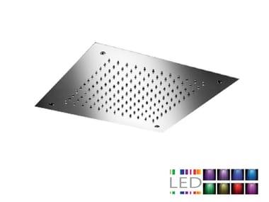LED built-in stainless steel overhead shower for chromotherapy SQ0-L7 | Overhead shower for chromotherapy