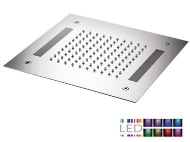 LED built-in stainless steel overhead shower for chromotherapy SQL-12 | Overhead shower for chromotherapy