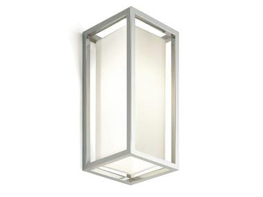 Applique a luce diretta in ottone cromato SQUARE | Applique in ottone cromato