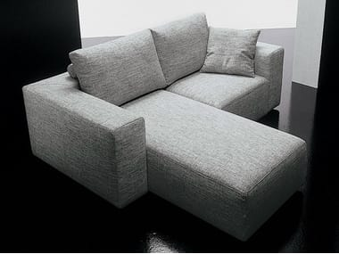 2 seater fabric sofa SQUARE | Sofa with chaise longue