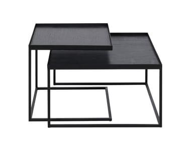 Square metal coffee table SQUARE TRAY COFFEE TABLE SET