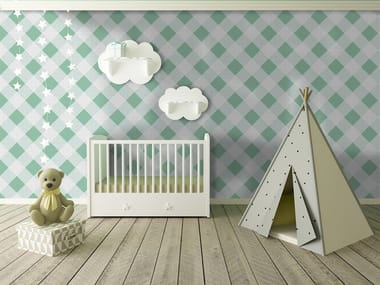 Check adhesive washable wallpaper SQUARES