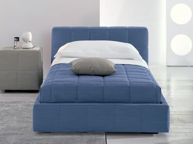 Upholstered single bed SQUARING | Single bed