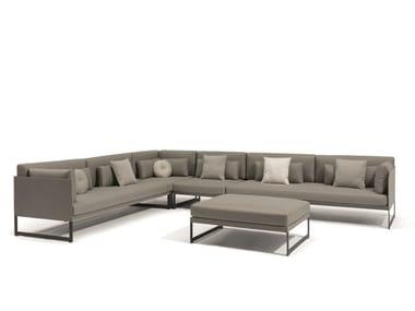 Sectional modular garden sofa SQUAT | Modular garden sofa