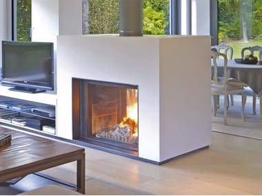 Double Sided Glass And Steel Fireplaces Archiproducts