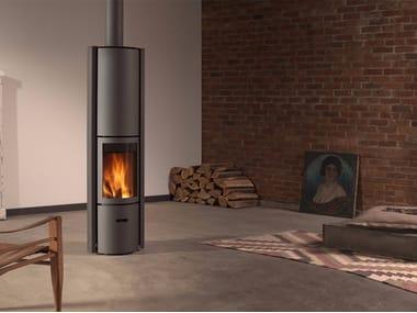 Stufa a legna rotante in acciaio inox ad accumulo STÛV 30-COMPACT H