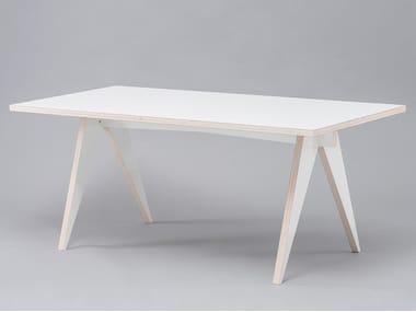 Tavolo da pranzo laccato rettangolare in HPL ST CALIPERS WHITE