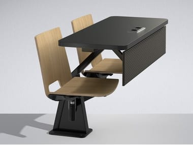Study table with integrated chairs ST12-13
