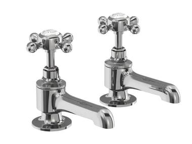 Robinet pour baignoire 2 trous avec rosaces individuelles STAFFORD | Robinet pour baignoire