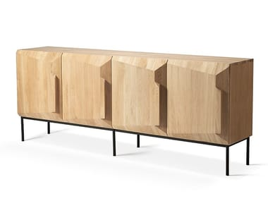 Oak sideboard with doors STAIRS OAK | Sideboard