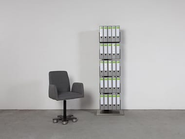 Open lacquered office shelving STAND - ART599 | Office shelving