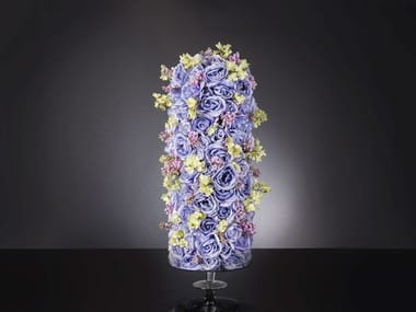Artificial plant STAND CYLINDER ROSES