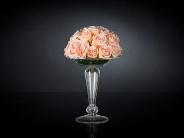 Artificial plant STAND WITH ROSE