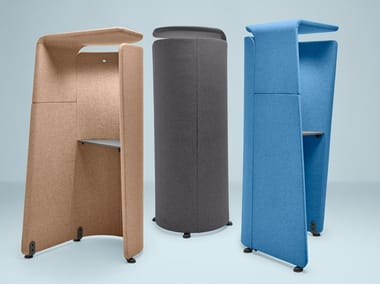 Acoustic fabric phone booth with built-in lights STANDALONE