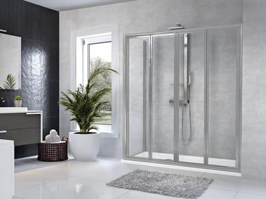 Box doccia angolare con porta a soffietto STAR | 2S + F