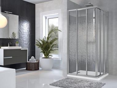 Box doccia angolare con porta scorrevole STAR | 3A