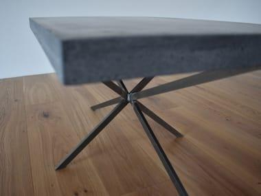 Tavolino da caffè rettangolare in calcestruzzo STAR
