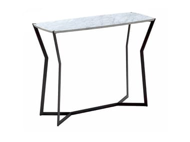 Rectangular Carrara marble console table STAR | Console table