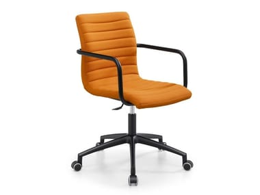 Fabric office chair with castors STAR DPB
