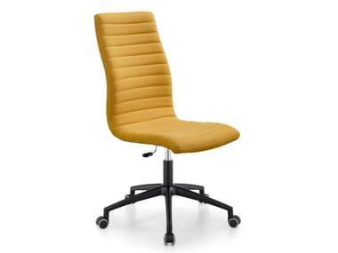 Swivel upholstered fabric office chair STAR DSA