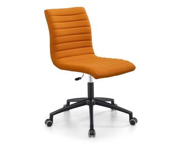 Swivel upholstered fabric office chair STAR DSB