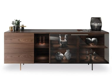 Wooden sideboard with drawers STAR